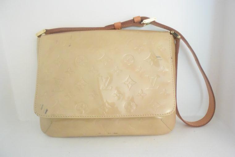 Louis Vuitton Thompson Street Vernis Leder beige -6536