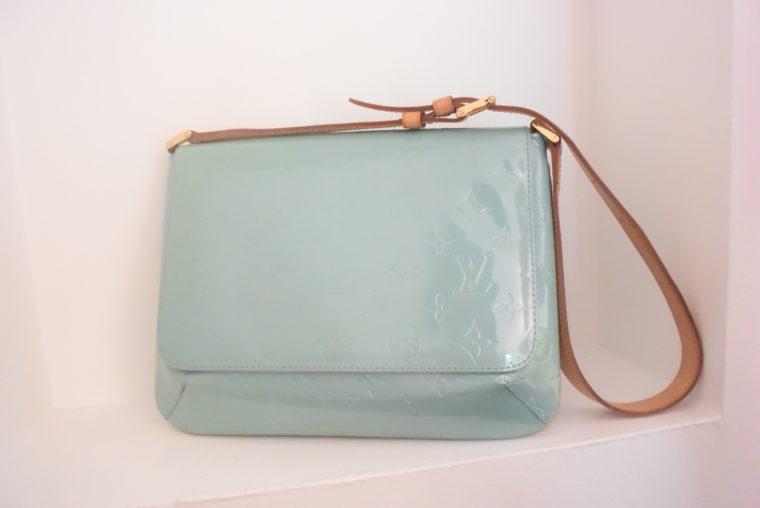 Louis Vuitton Tasche Thompson Street Vernis Leder blau-6548
