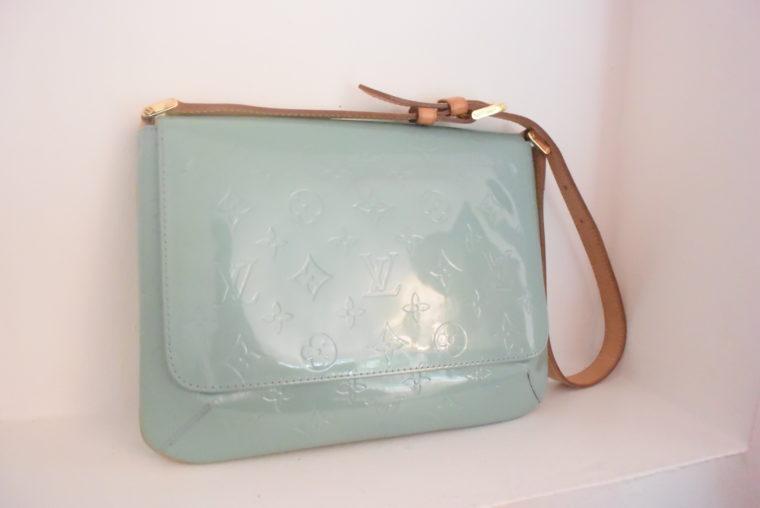 Louis Vuitton Tasche Thompson Street Vernis Leder blau-6553