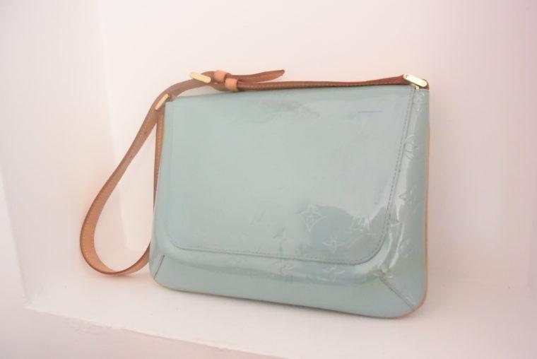 Louis Vuitton Tasche Thompson Street Vernis Leder blau-6552