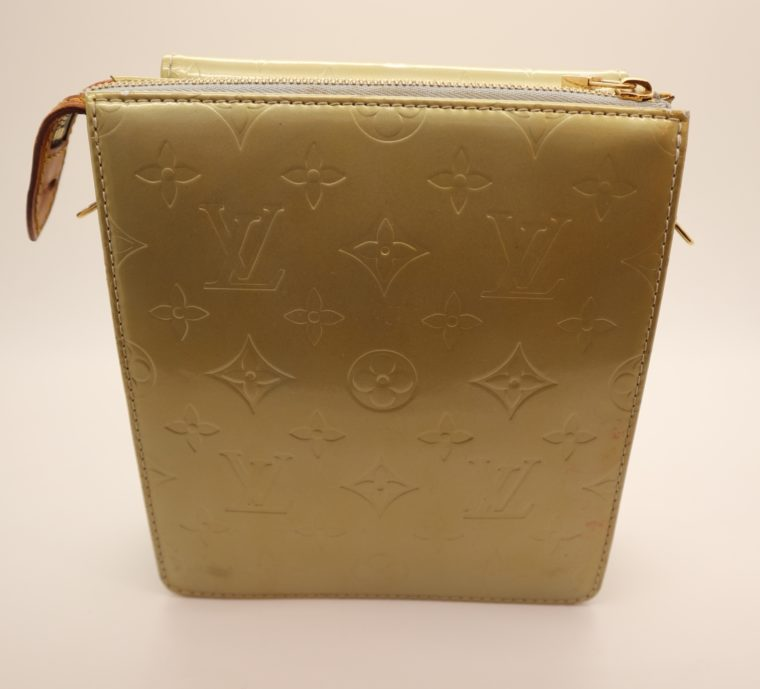 Louis Vuitton Tasche Mott Vernis Leder türkis-14198