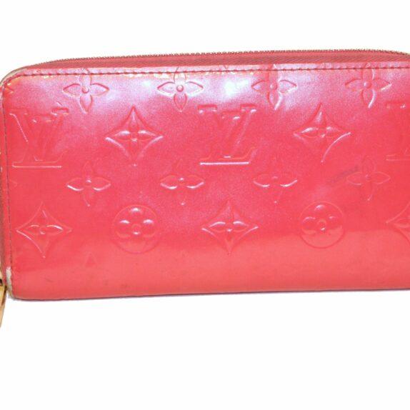 Louis Vuitton Zippy geldbörse groß vernisleder pink