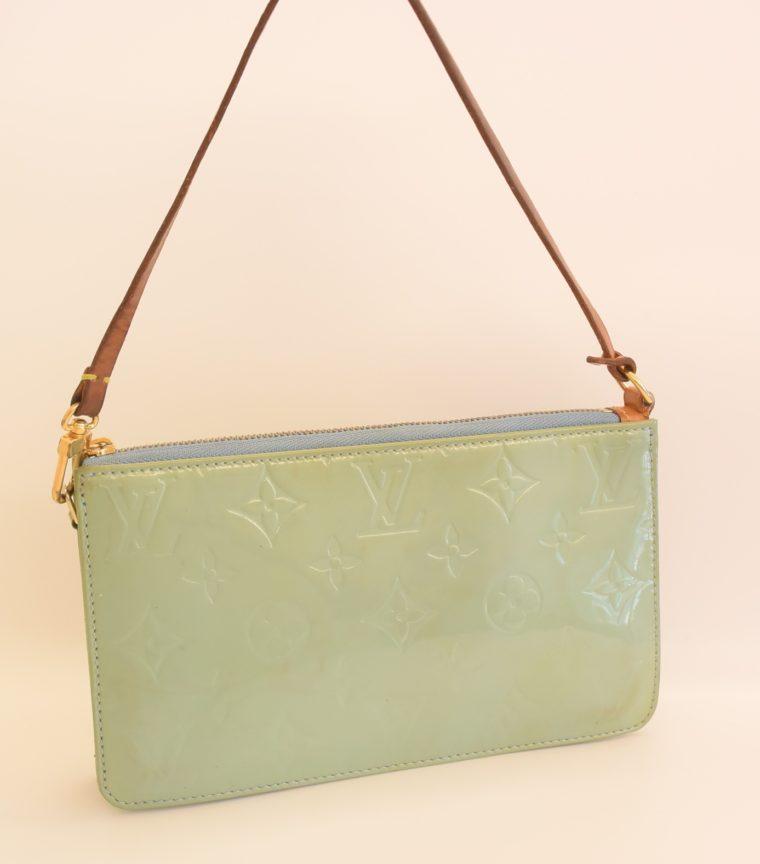 Louis Vuitton Clutch Pochette Lexington blau Vernis Leder-0
