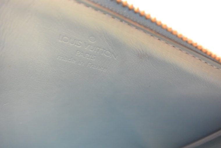 Louis Vuitton Clutch Pochette Lexington blau Vernis Leder-10359