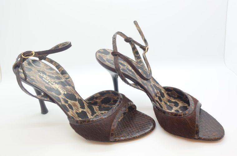 Dolce & Gabbana D&G Pumps Phytonleder 38-11549