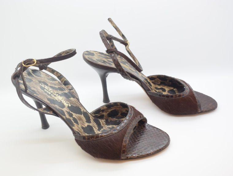 Dolce & Gabbana D&G Pumps Phytonleder 38-11551