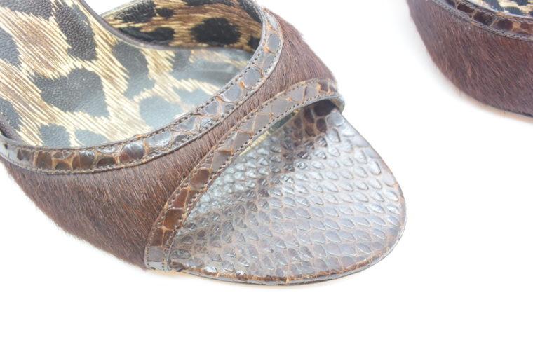 Dolce & Gabbana D&G Pumps Phytonleder 38-11554