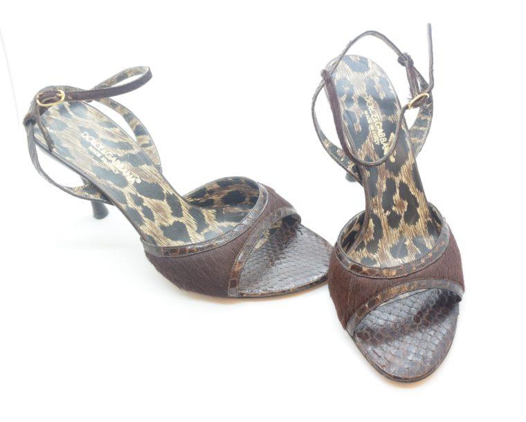 Dolce & Gabbana D&G Pumps Phytonleder 38-11555