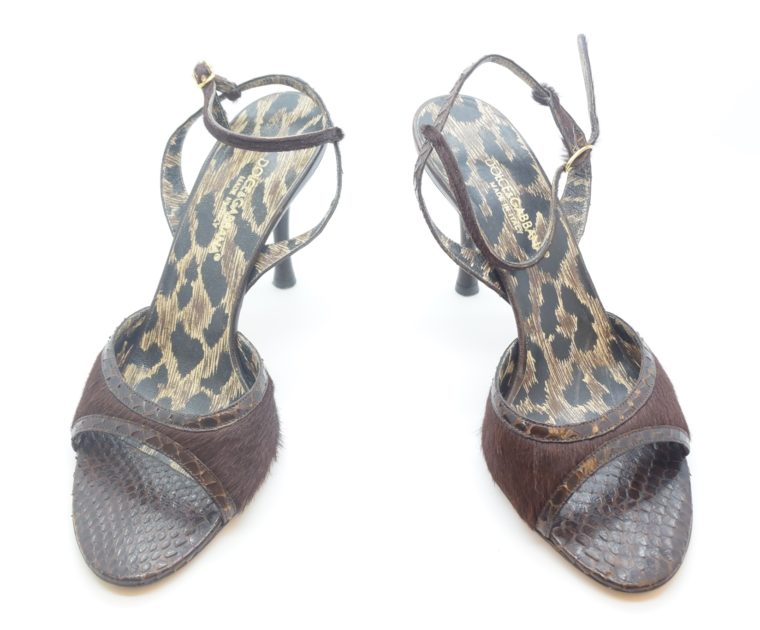 Dolce & Gabbana D&G Pumps Phytonleder 38-11556