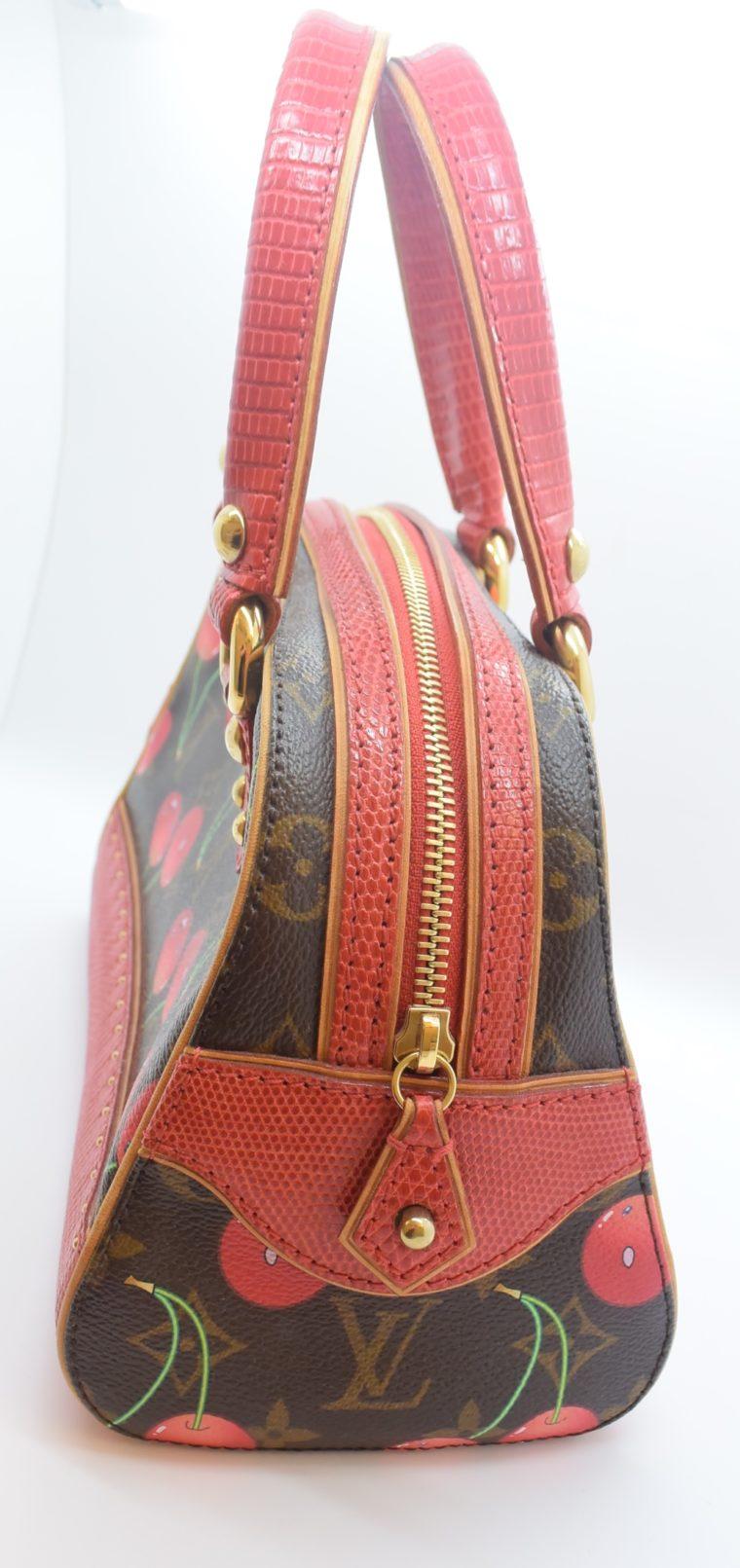 Louis Vuitton Sac Femior Eidechsenleder Cerise -11628