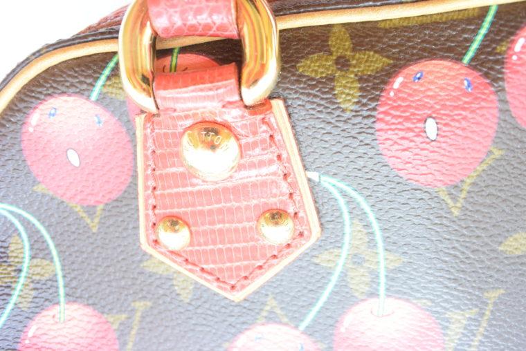 Louis Vuitton Sac Femior Eidechsenleder Cerise -11630