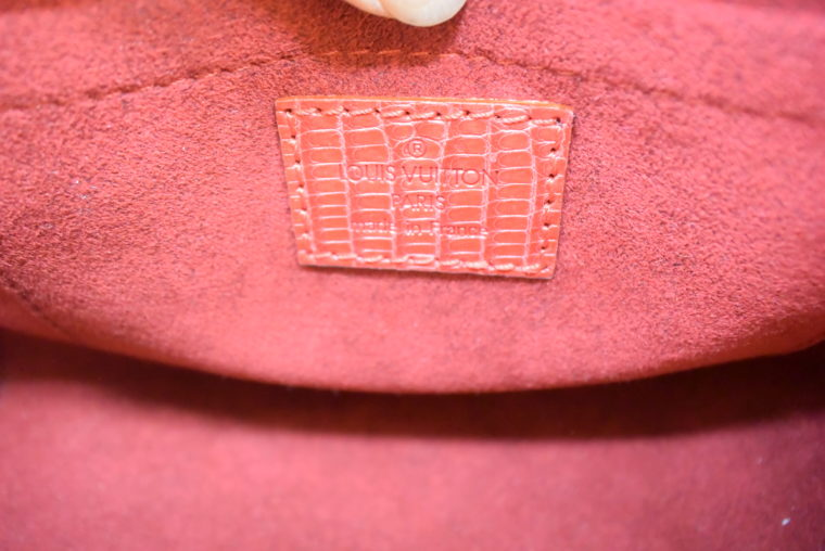 Louis Vuitton Sac Femior Eidechsenleder Cerise -11633