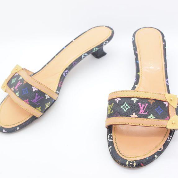 Louis Vuitton Schuhe Sandale multicolor schwarz