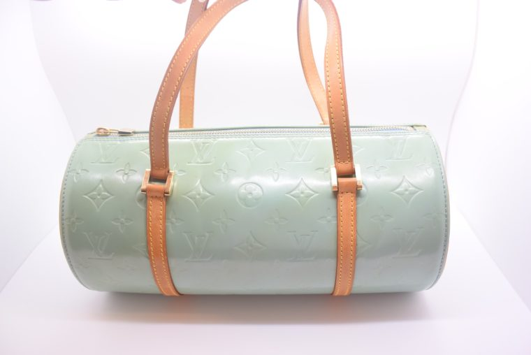 Louis Vuitton Tasche Bedford türkis Vernis Leder -12846