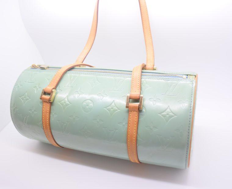 Louis Vuitton Tasche Bedford türkis Vernis Leder -12843