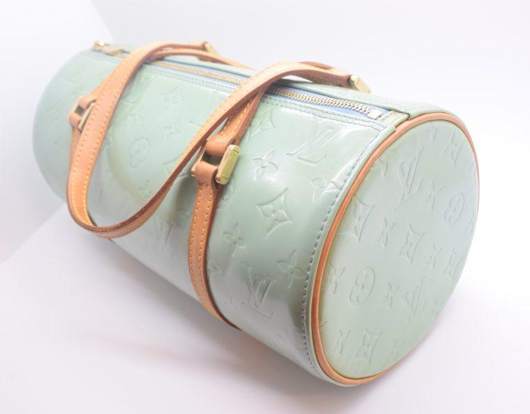 Louis Vuitton Tasche Bedford türkis Vernis Leder -12845
