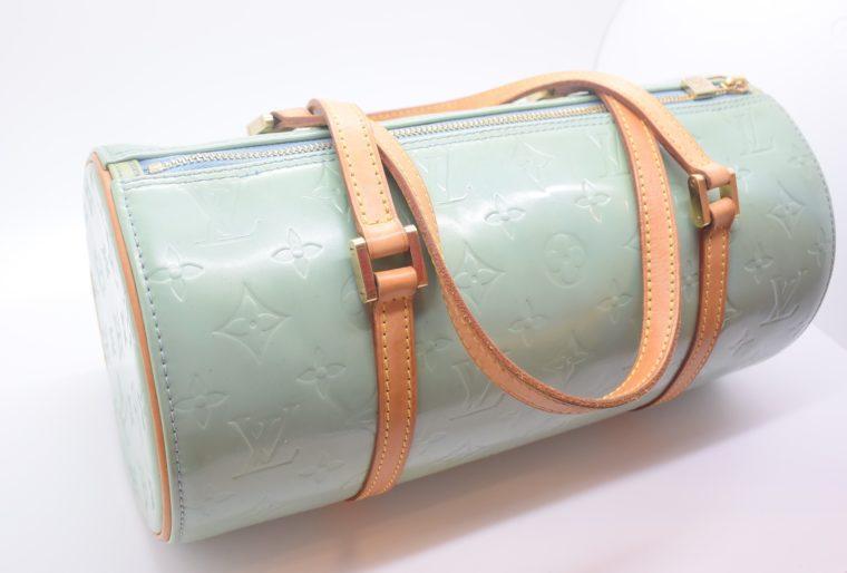Louis Vuitton Tasche Bedford türkis Vernis Leder -12848