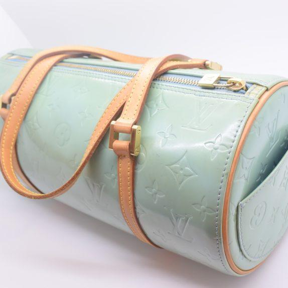 Louis Vuitton Tasche Bedford türkis Vernis Leder