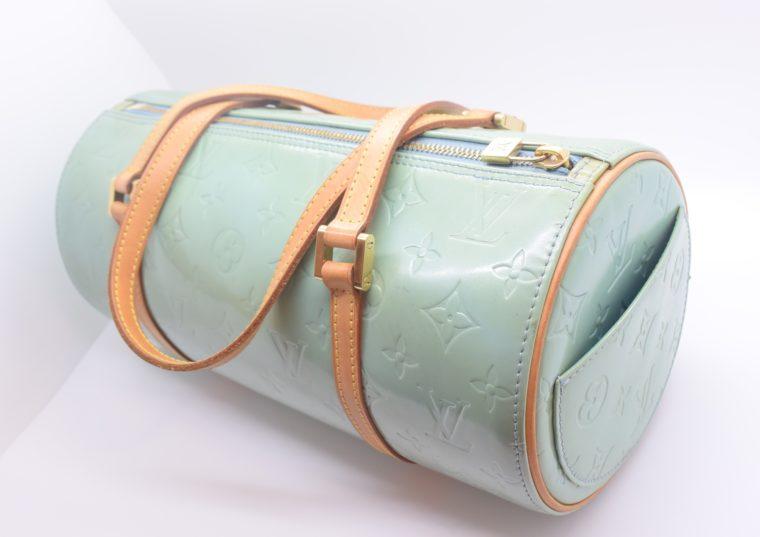 Louis Vuitton Tasche Bedford türkis Vernis Leder -0