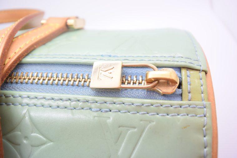 Louis Vuitton Tasche Bedford türkis Vernis Leder -12852
