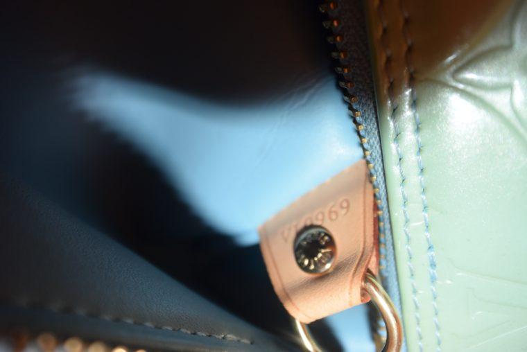 Louis Vuitton Tasche Bedford türkis Vernis Leder -12856
