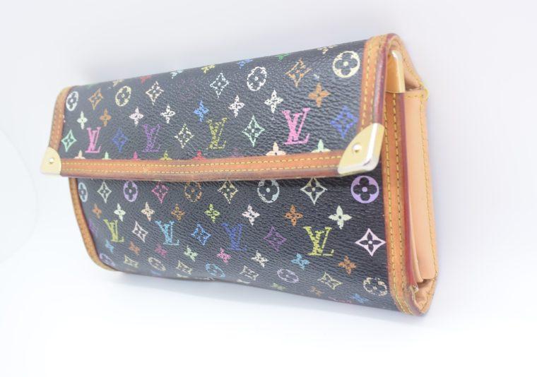 Louis Vuitton Geldbörse international Multicolor schwarz-12873