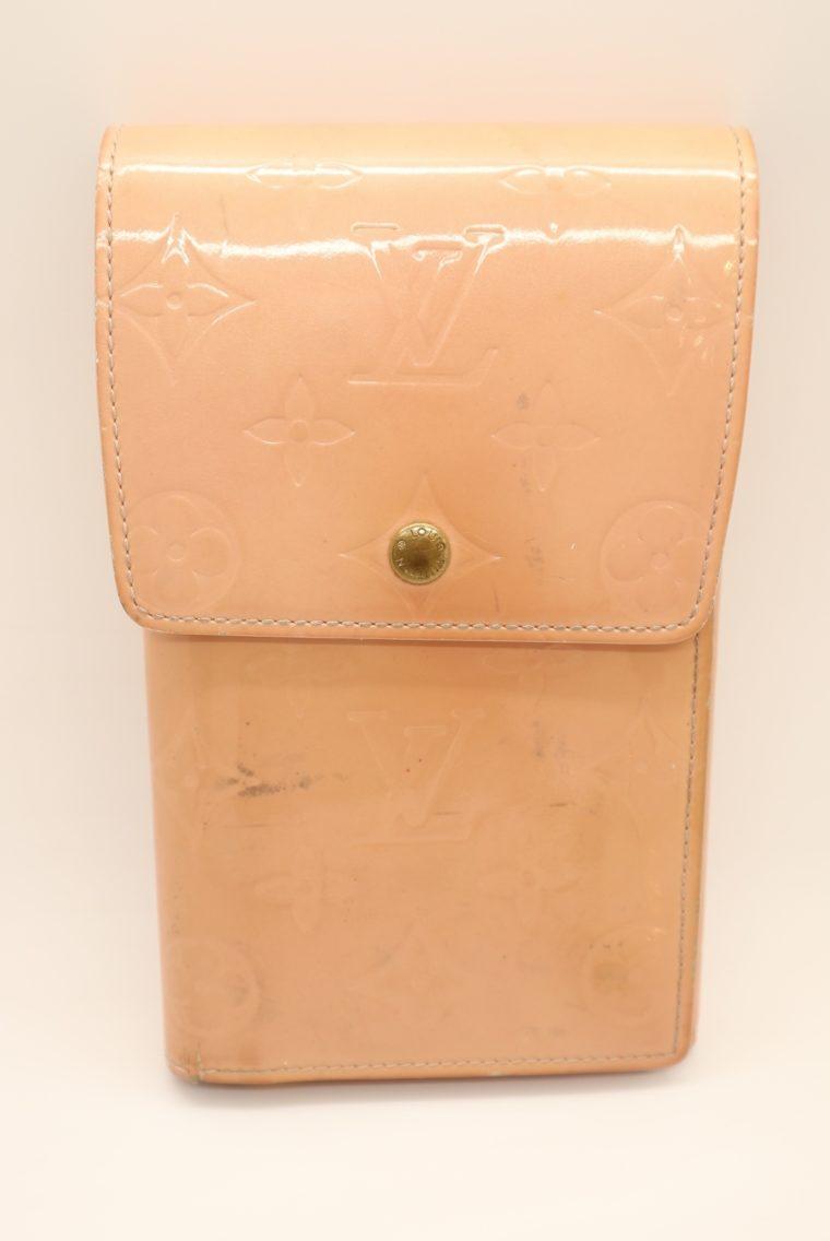 Louis Vuitton Geldbörse Tasche Walker Clutch rosa Vernisleder-13725
