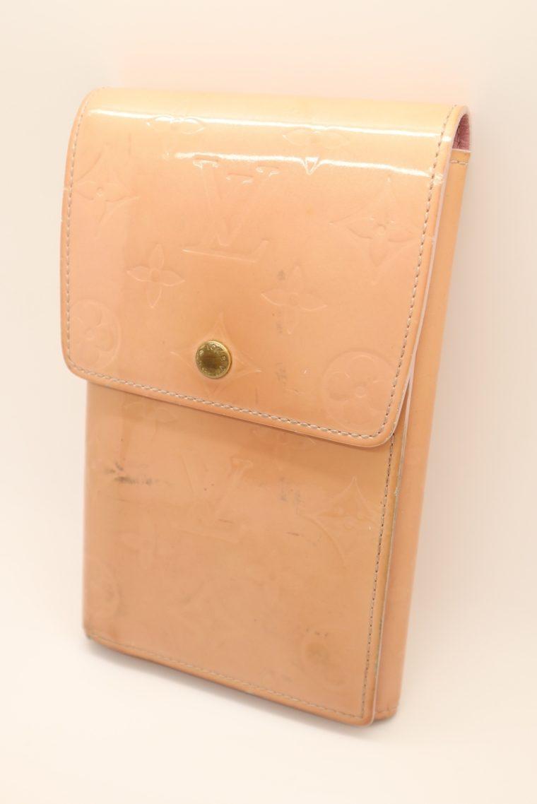 Louis Vuitton Geldbörse Tasche Walker Clutch rosa Vernisleder-13724