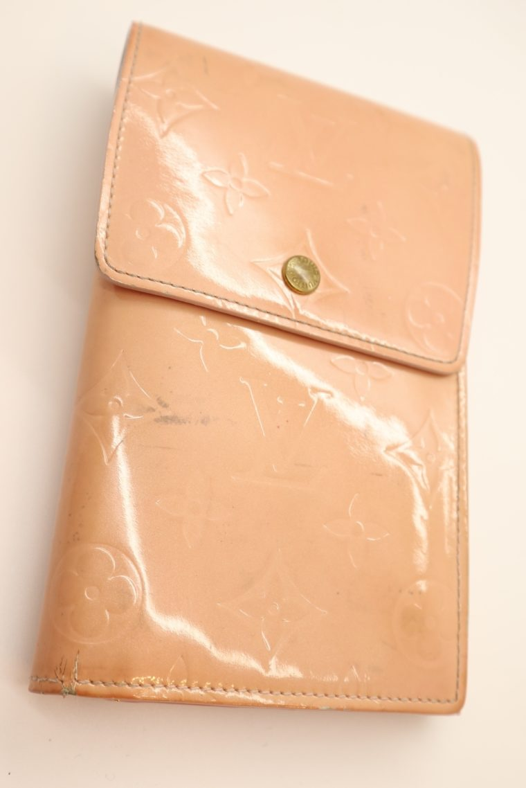 Louis Vuitton Geldbörse Tasche Walker Clutch rosa Vernisleder-13728
