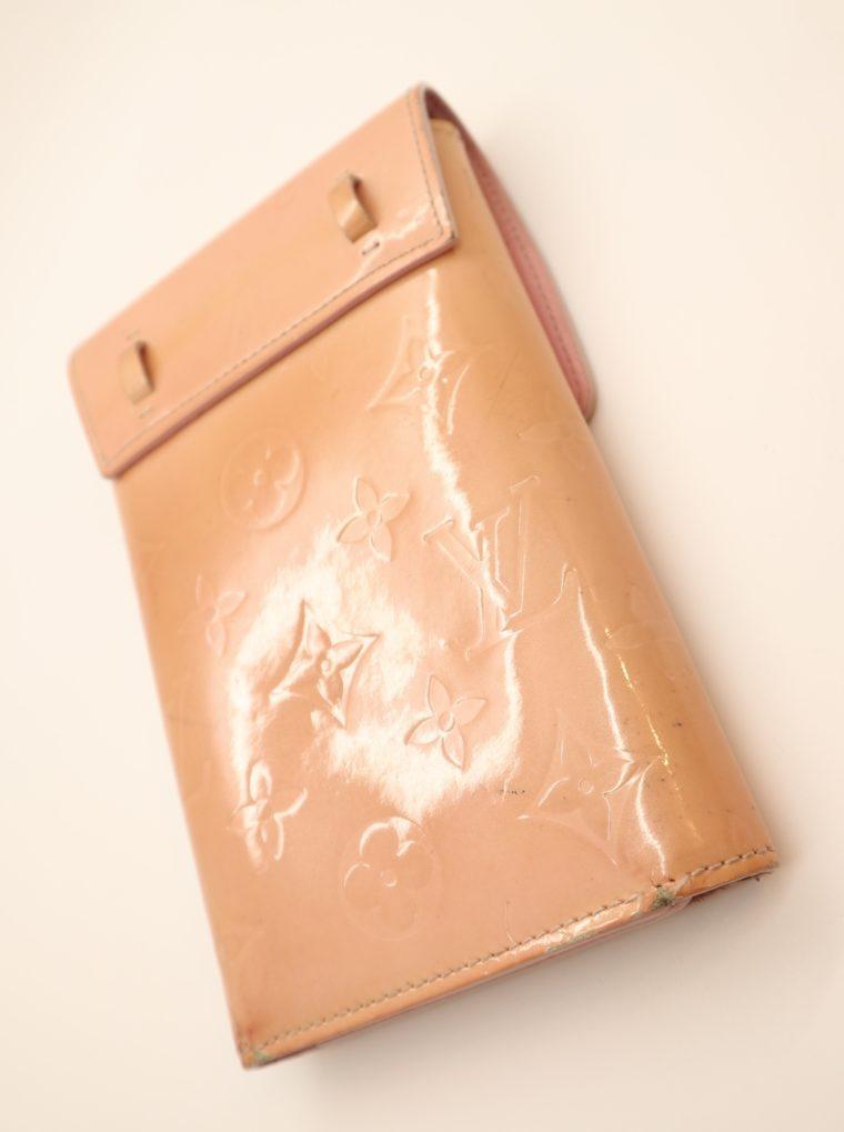 Louis Vuitton Geldbörse Tasche Walker Clutch rosa Vernisleder-13727