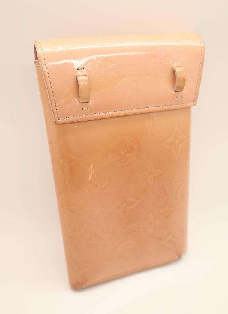 Louis Vuitton Geldbörse Tasche Walker Clutch rosa Vernisleder-13726