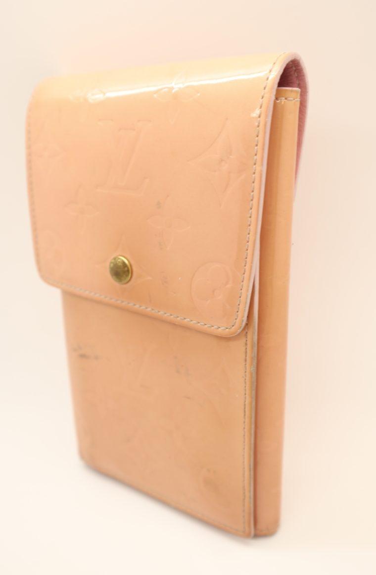 Louis Vuitton Geldbörse Tasche Walker Clutch rosa Vernisleder-13730
