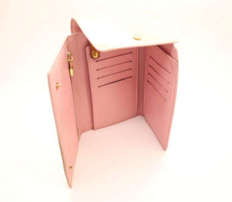 Louis Vuitton Geldbörse Tasche Walker Clutch rosa Vernisleder-13729