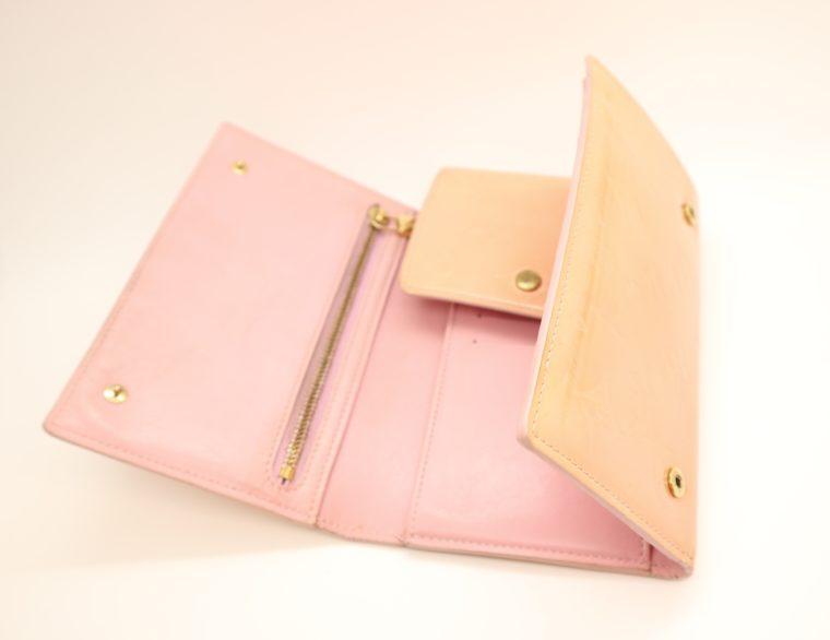 Louis Vuitton Geldbörse Tasche Walker Clutch rosa Vernisleder-13731
