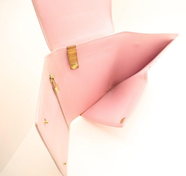 Louis Vuitton Geldbörse Tasche Walker Clutch rosa Vernisleder-13734