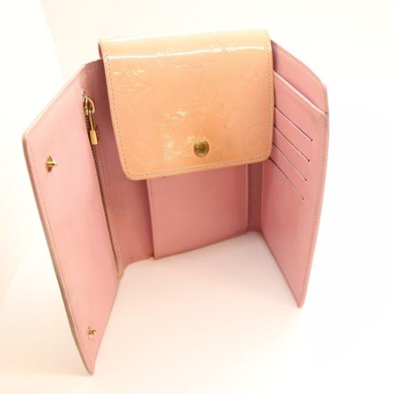Louis Vuitton Geldbörse Tasche Walker Clutch rosa Vernisleder