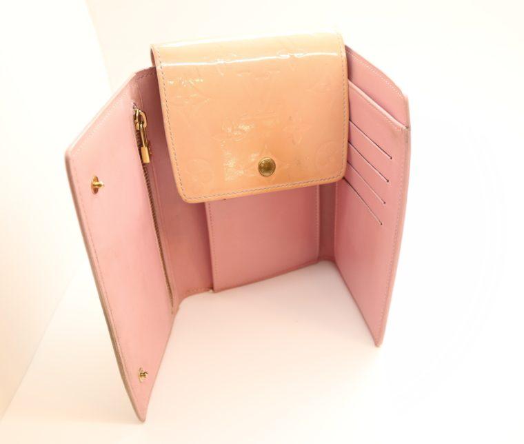 Louis Vuitton Geldbörse Tasche Walker Clutch rosa Vernisleder-0