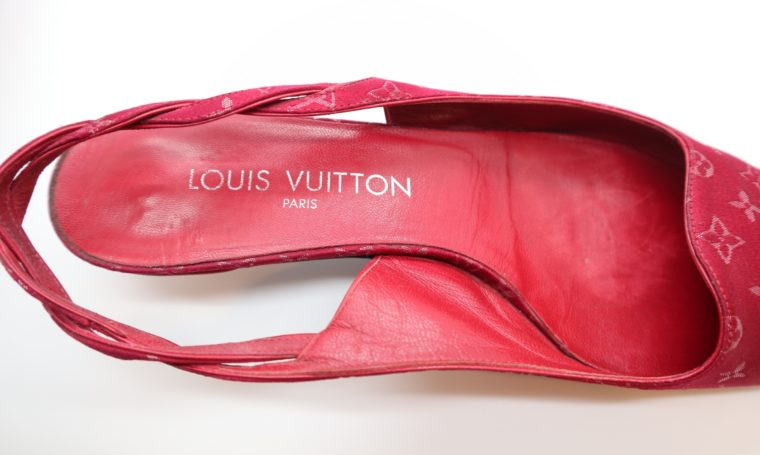 Louis Vuitton Pumps Satin rot 38-14309