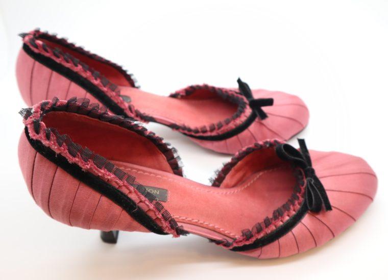 Louis Vuitton Pumps rosa Satin 38-14325
