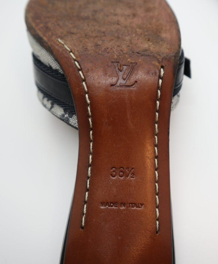 Louis Vuitton Pumps Min Lin grau 36 1/2 -14339
