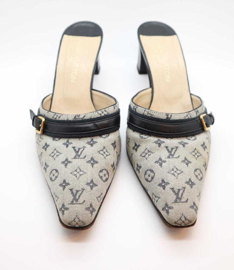 Louis Vuitton Pumps Min Lin grau 40 1/2-14345