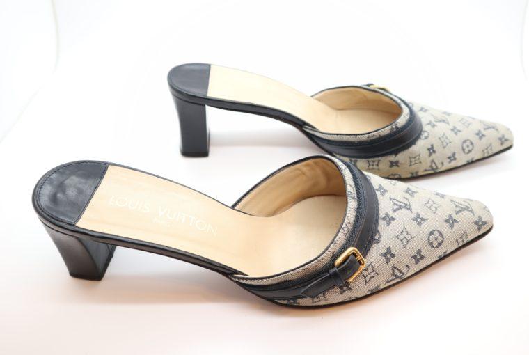 Louis Vuitton Pumps Min Lin grau 40 1/2-14346