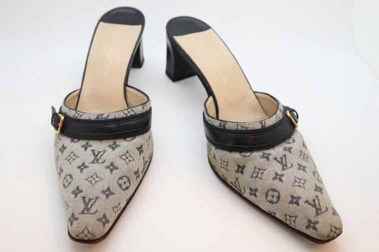 Louis Vuitton Pumps Min Lin grau 37 1/2-14350
