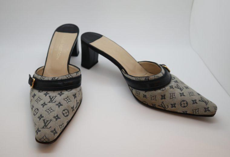 Louis Vuitton Pumps Min Lin grau 37 1/2-14352