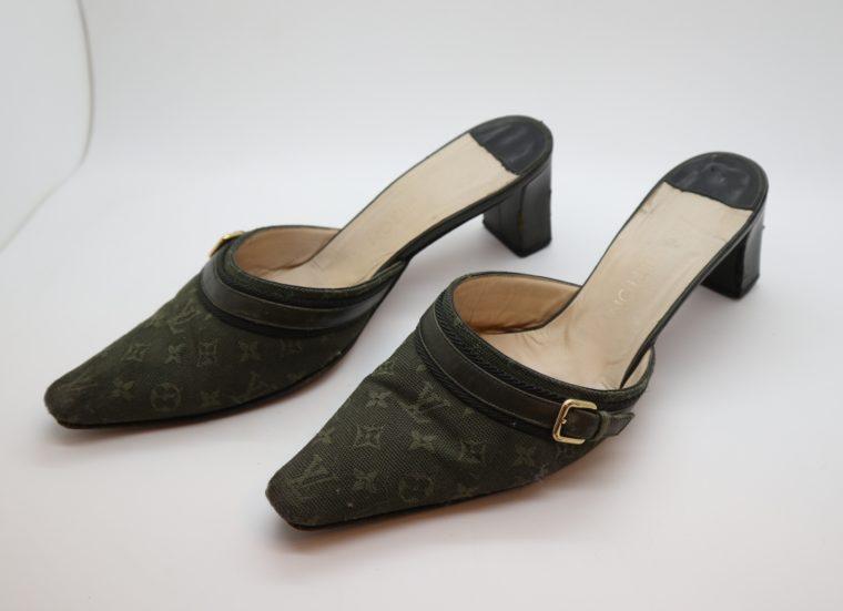 Louis Vuitton Pumps Mini Lin khaki 37-14354