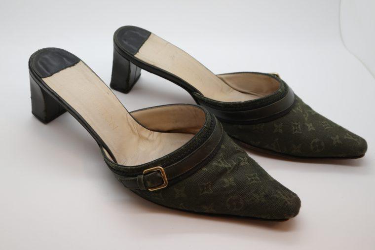 Louis Vuitton Pumps Mini Lin khaki 37-14355