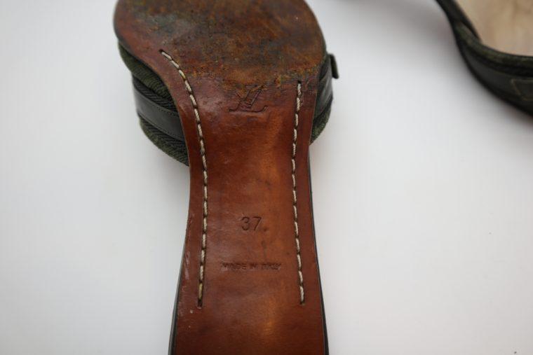 Louis Vuitton Pumps Mini Lin khaki 37-14358
