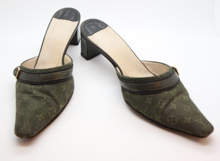 Louis Vuitton Pumps Mini Lin khaki 37-14356