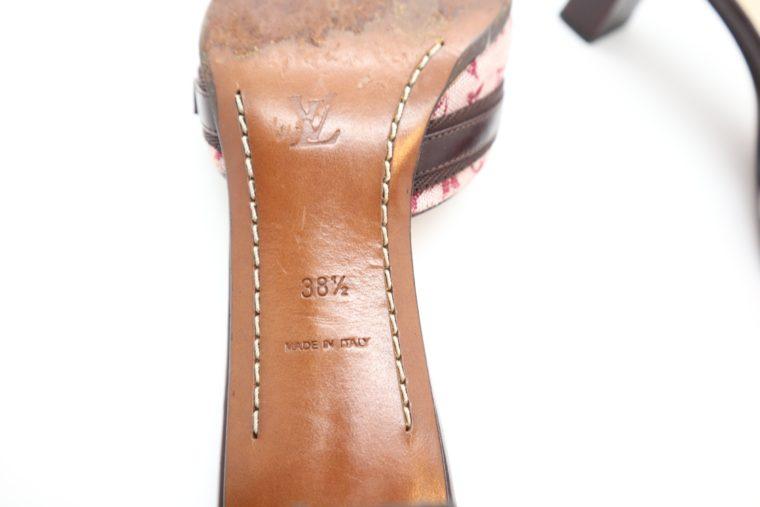 Louis Vuitton Pumps Mini Lin rosa 38 1/2-14364