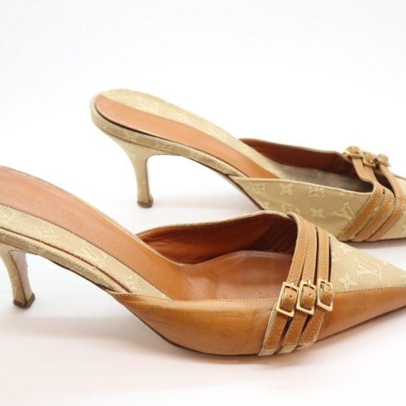 Louis Vuitton Pumps Mini Lin beige 39 1/2